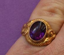 gouden amethisten slang ring