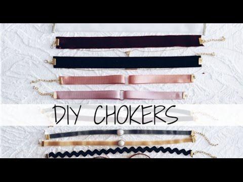 DIY CHOKER | Haz tus propios choker o gargantillas FÁCIL Y RÁPIDO |Gabriela Ro - YouTube