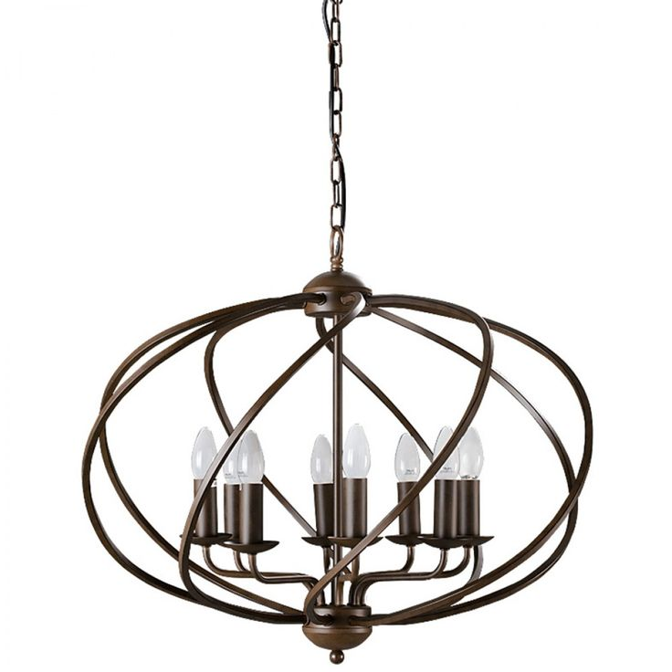 Zola 8 Light Chandelier Dark Bronze - Chandeliers - Lighting & Fans