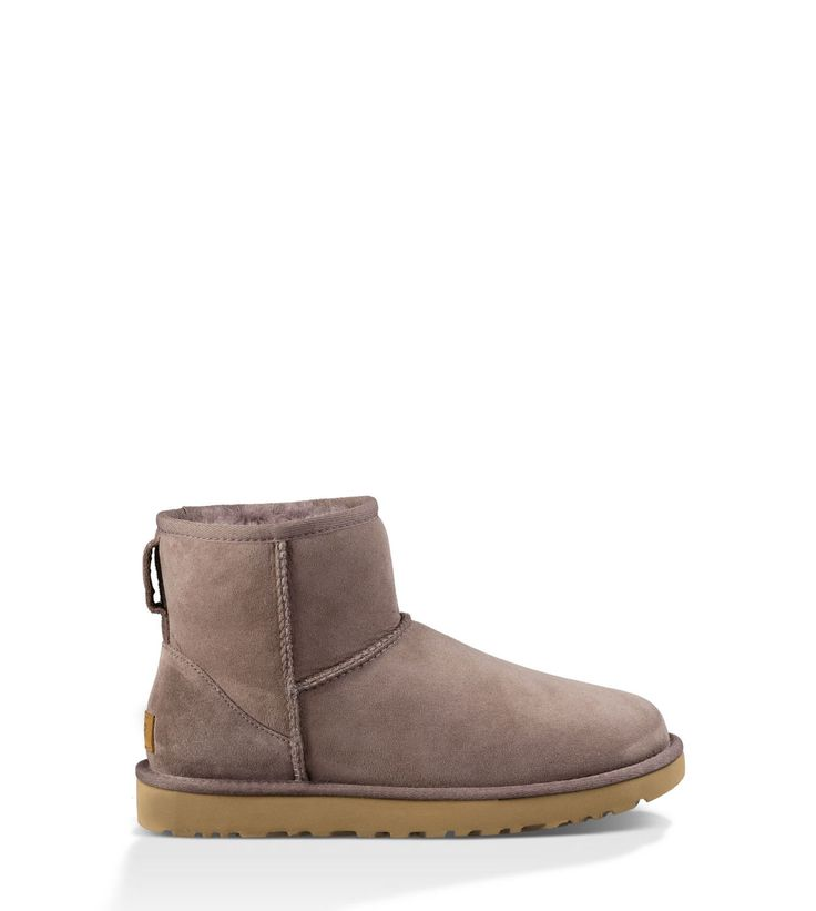 One of our most beloved silhouettes, the Classic Mini is an icon of casual style. Now pretreated to protect against moisture and staining, this plush sheepskin boot has also been updated with our Treadlite by UGG™ sole, which provides increased cushioning, durability, and traction on both wet and dry surfaces.