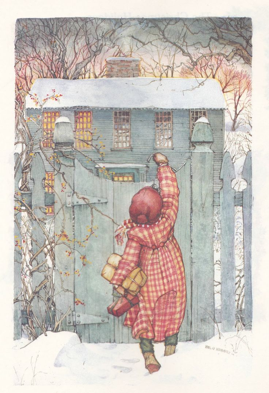 the marlowe bookshelf: Holly Hobbie's Christmas Book - Visiting