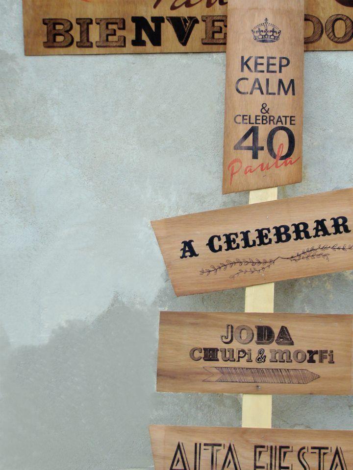 decoracion cumpleaos cartel impreso de madera birthday decoration printed wooden sign keep calm