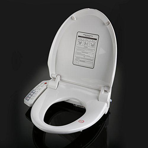 KINSE® Abattant WC Intellectuel Abattant de Cabinet d'Aisance Thermostatique Charnières Automatiques Siège de Toilettes avec Fonctions de…