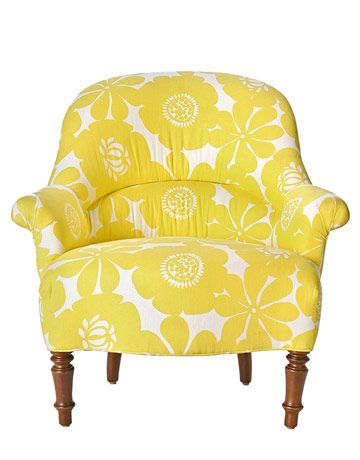 -: Living Rooms, Funky Chairs, Fabrics Patterns, Mellow Yellow, Reading Chairs, Accent Chairs, Wingback Chairs, Yellow Chairs, Beaches Cottages