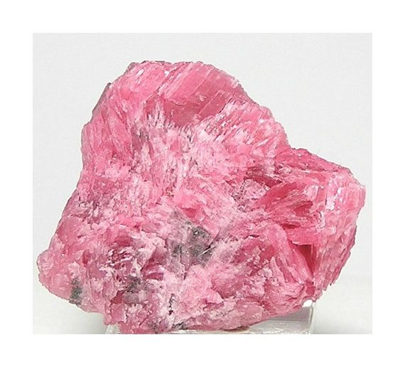 Rhodonite Rose Pink Crystal Cluster With White Talc And Sparkly Golden Pyrite Andes Mountains Mineral Specimen