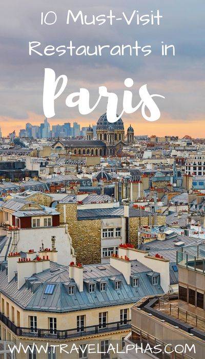Here are 10 of the greatest places to eat in Paris, for everything from macarons and ice cream, to fois gras and crêpes! 10 Must-Visit Restaurants in Paris, via www.travelalphas.com