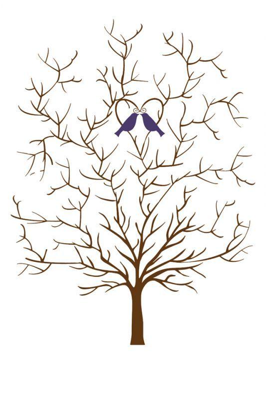 Plantilla de la boda del árbol sin hojas | Weddingbee Galería de fotos