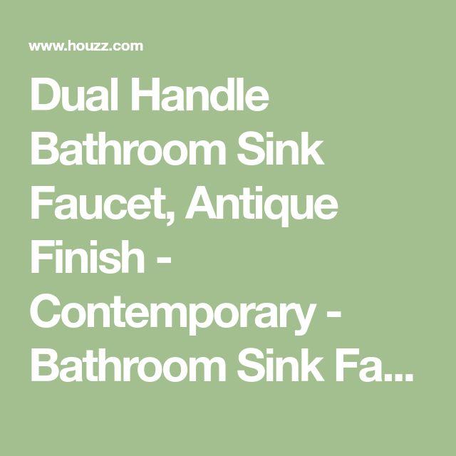 Dual Handle Bathroom Sink Faucet, Antique Finish - Contemporary - Bathroom Sink Faucets - by Juno Showers