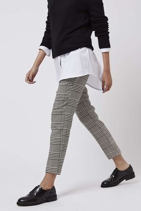Check Print Cigarette Trousers - Trousers & Leggings - Clothing - Topshop