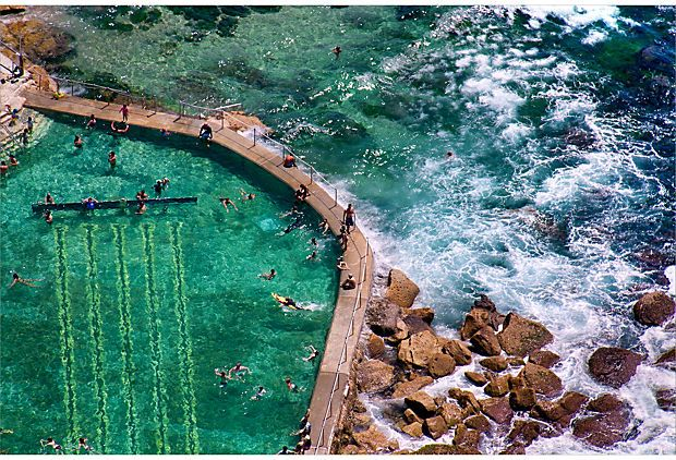 Bronte Beach Pool, Sydney   ..same collection.. I used to run the cliffside coastal path along these Sydney suburb surf beaches.. #nowords..