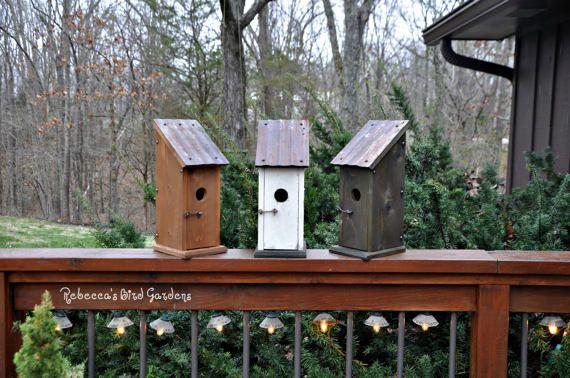 "Rustic Bluebird Birdhouse ~ ""The Jake and Elwood House of Blues,"" Blue Bird House, Unique Birdhouse, Wooden Birdhouse, Outdoor Birdhouse"