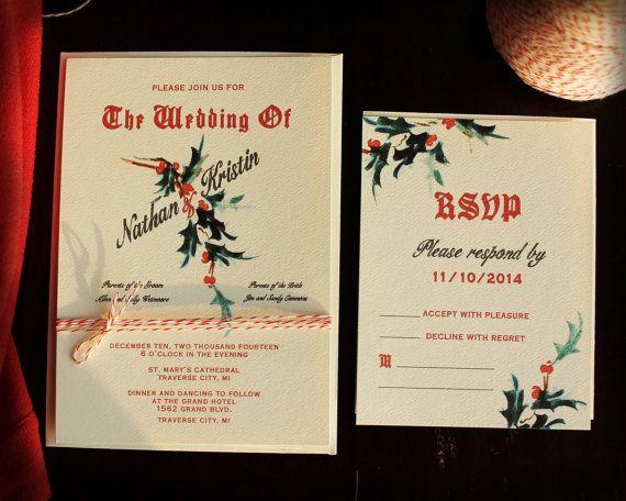 Holiday Wedding Program Vintage Holiday Wedding by KayleighDuMond