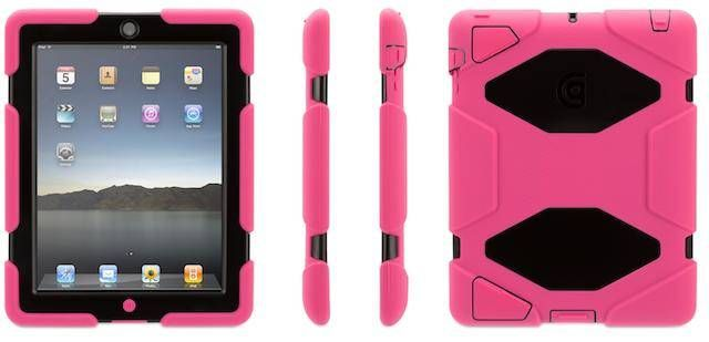 Griffin Survivor Case for iPad Air - Pink / Black - Ridiculously over-engineered? Or the perfect case for your iPad Air  no matter where you're headed? We think it's a little bit of both. Simply pu...