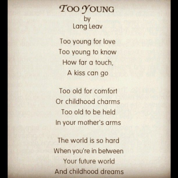 Quote For Someone Who Died Too Young : Good poem quotes