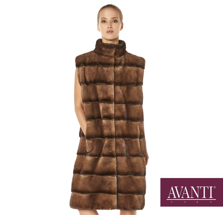 AVANTI FURS - MODEL: JESY-M MINK VEST with Mink Silk detailS #avantifurs #fur #fashion #fox #luxury #musthave #мех #шуба #стиль #норка #зима #красота #мода #topfurexperts