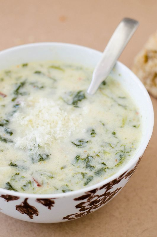 Kale and Potato Soup - I added sausage first , and used half n half ...