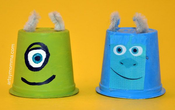 WooHoo! This month's theme for the kids craft stars challenge is Monsters. We love monsters around here! My kids have watched Monsters Inc. and Monsters University more times than I can remember this past year. We decided to make a Monsters University craft by recycling k cups (coffee pods) into Mike and Sulley for the . . . . .