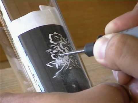 ▶ Dremel Diamond Engraving tip with flexshaft - example of use - YouTube