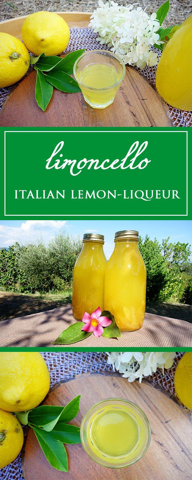 Limoncello - a simple, delicious and beautiful lemony recipe for the famous italian lemon liqueur! 🍋😋🇮🇹   cucina-con-amore.com