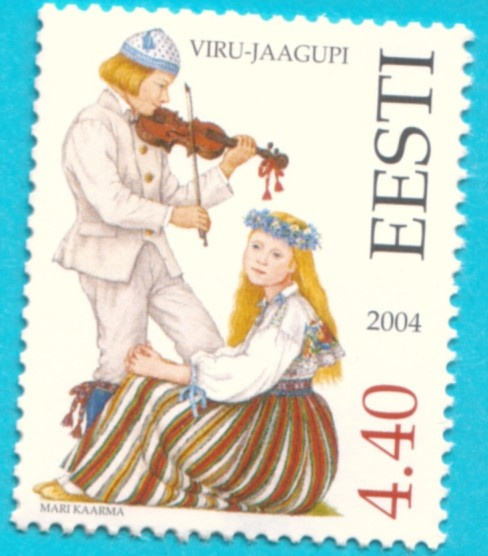 All* Estonian stamps: Estonian National Costumes. Viru County - Viru-Jaagupi