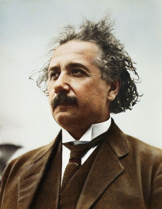 Albert Einstein: 14 Mar 1879 - 15 Apr 1955. German born theoretical physicist.  Synonymous with the development of the theory of relativity and his mass-energy equivalence formula:  E=mc^2