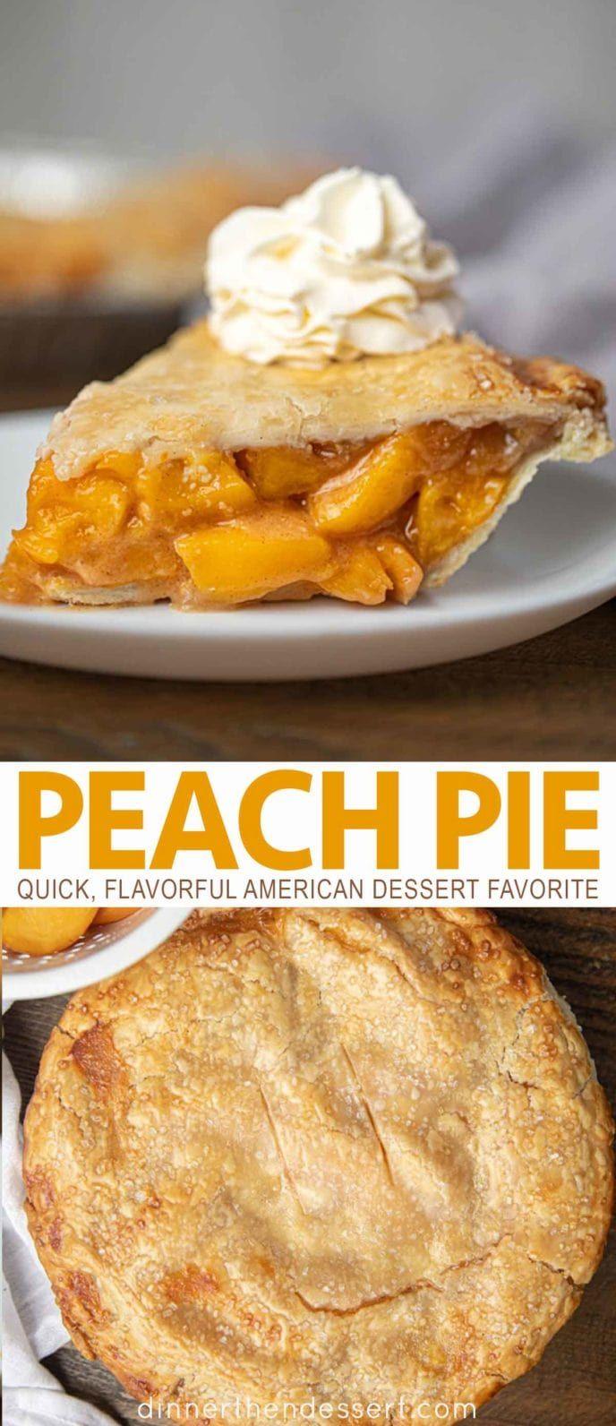 Peach Pie ist ein amerikanisches klassisches Dessertrezept mit frischen Pfirsichen mit Zimt …   – Pies