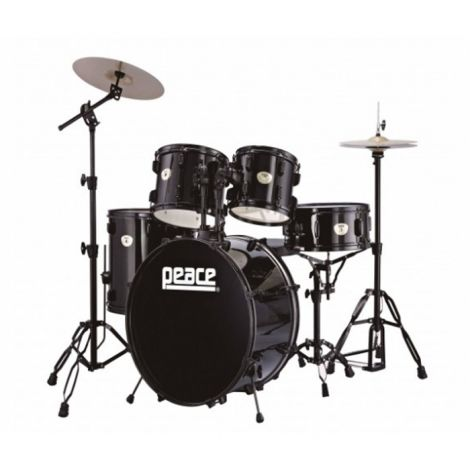 The Peace® DP101 Drum Kits are crafted in Taiwan by a specialist Drum manufacturer and offer outstanding build quality at an affordable price. A all inclusive pack contains all you need in one box to get you started, including a drum throne and a pair of sticks. All kits come with Black hardware.
