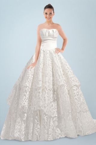 Funky Wedding Dresses - strapless wedding gown with pleats