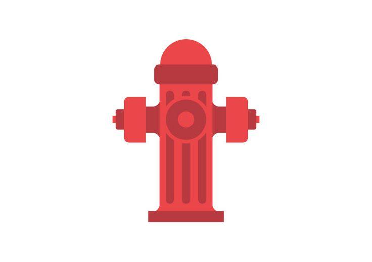 Street Fireplug Flat Vector Illustration