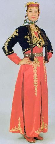 Turkish Costumes, Artvin, Woman