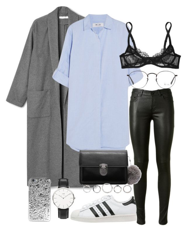"""""""#604"""" by blendingtwostyles ❤ liked on Polyvore featuring Yves Saint Laurent, MiH Jeans, Daniel Wellington, L'Agent By Agent Provocateur, adidas Originals, Ray-Ban and Marc by Marc Jacobs"""