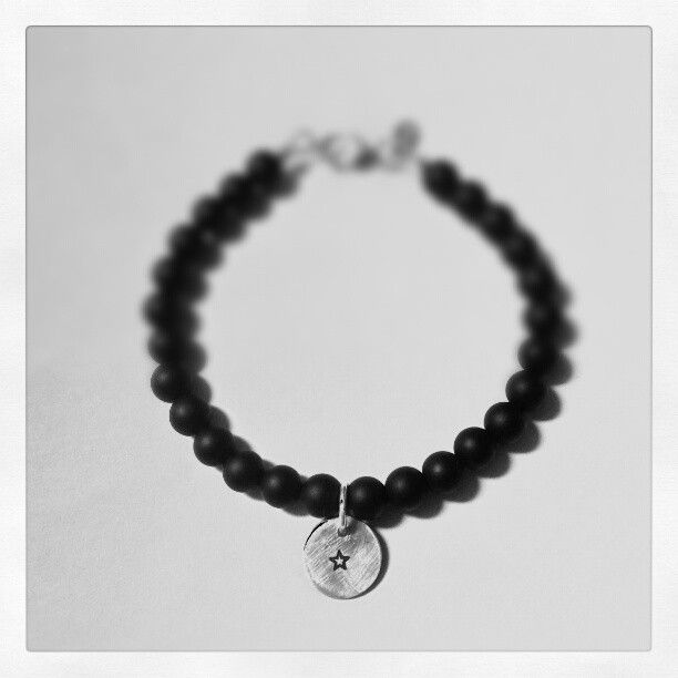 Onyx beads and silver