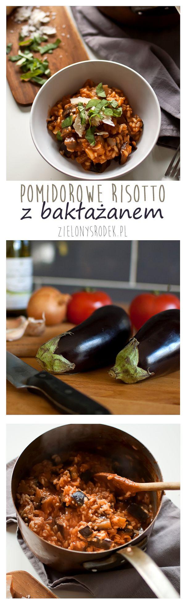 pomidorowe risotto z bakłażanem. pyszne i szybkie dani <3