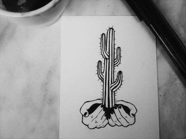 cactus tattoo hands