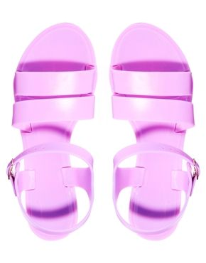 Just bought these Juju Seven Purple Flat Jelly Sandals from asos love love them! ❤️❤️❤️❤️