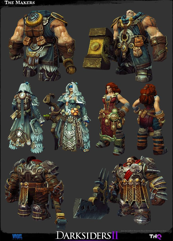 The Character Art of Darksiders II - Game Assets