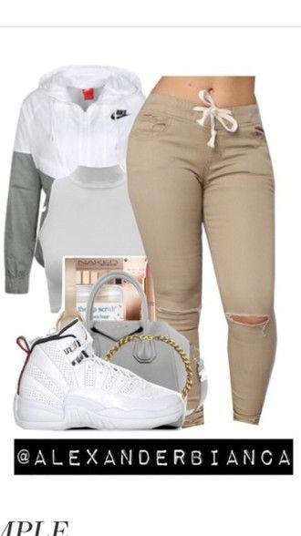 jacket nike jacket nike white swag jordans cute outfit nude pants windbreaker