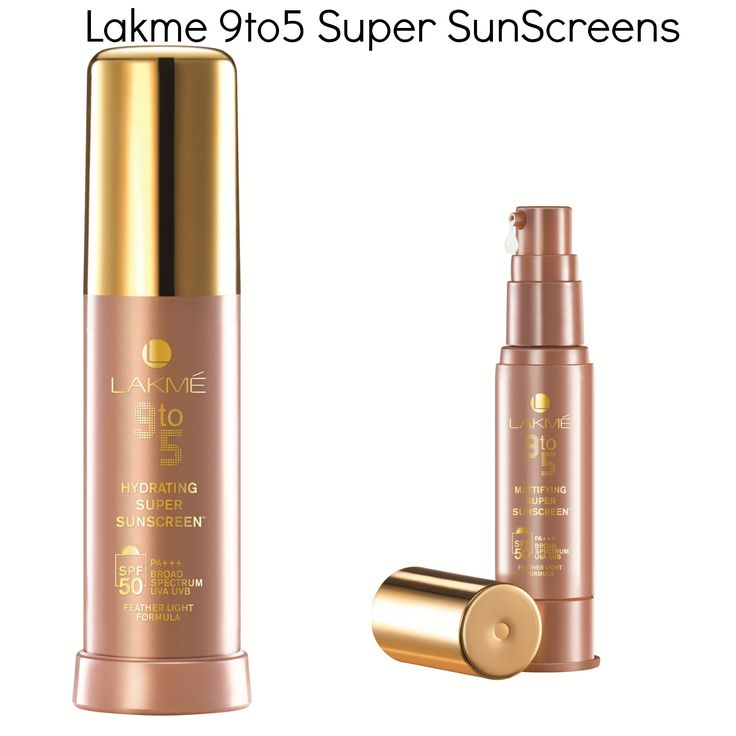 Lakme 9to5 Super Sunscreen. Get the lightweight Sunscreened Look.