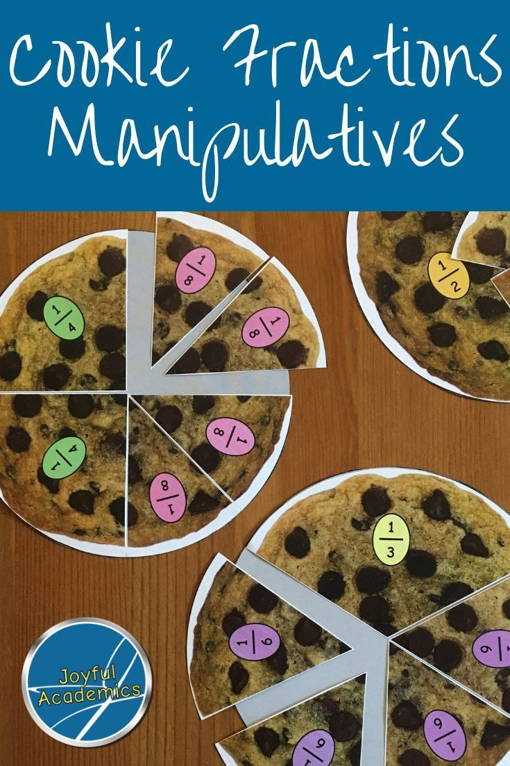 Cookie Fraction Circle Manipulatives Math Activities Elementary Fractions Teaching Math Elementary [ 1102 x 735 Pixel ]