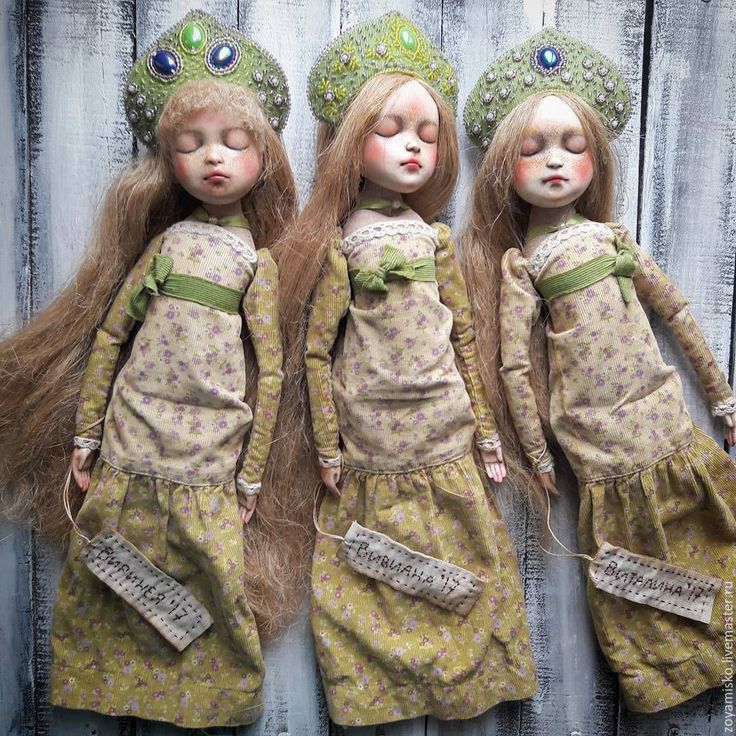 Купить Виринея, Виталина, Вивиана. Русалки. Авторская уникальная кукла - кукла ручной работы