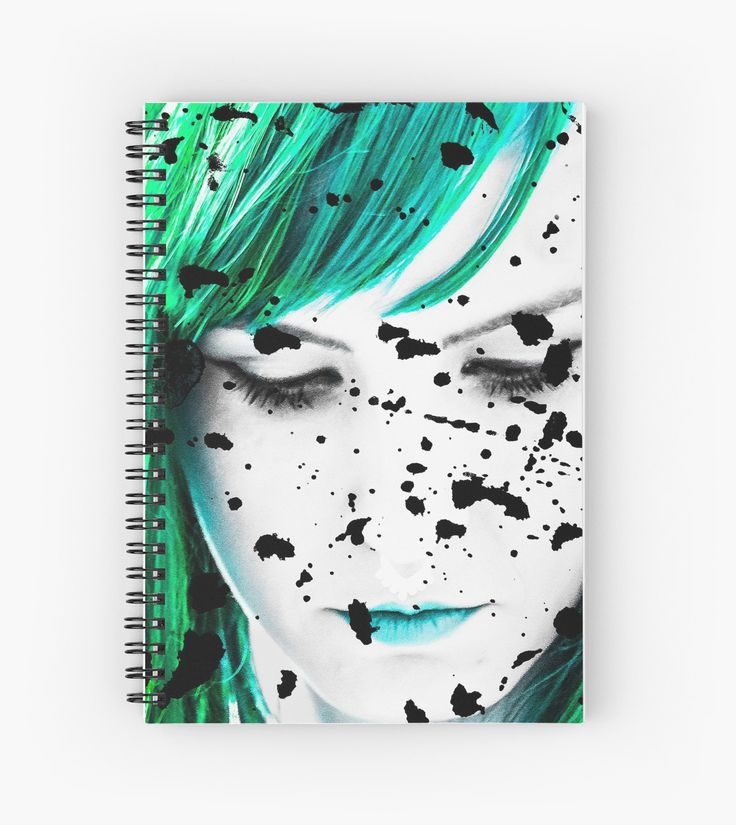 Beauty Woman Artistic Portrait Redbubble Spiral Notebook