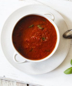 Tomato Sauce in White Bowl | Finally, a sauce that's simple and quick—but tastes like it was slow cooked for hours.