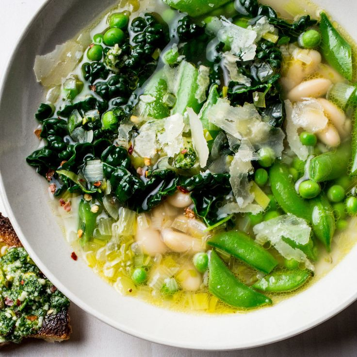 Step 1: Prep this simple soffritto and nutty pesto. Step 2: Make beautiful, clean soups on a whim.