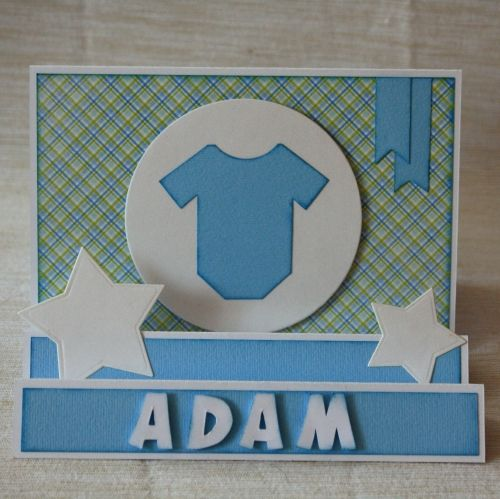 Step card for a little boy
