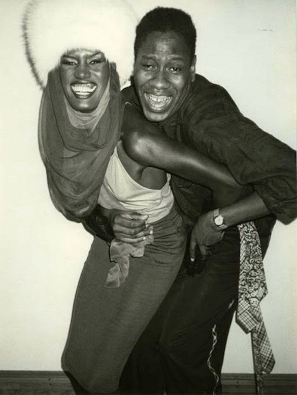Grace Jones and André Leon Talley in the '70s