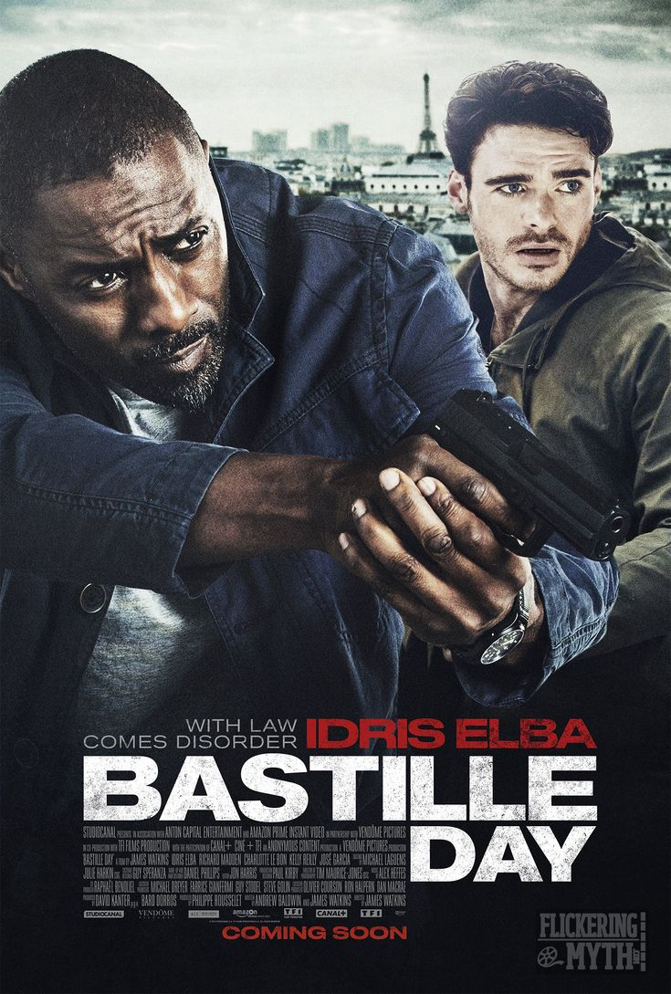 反恐局中局 (Bastille Day)   (92min / 2016)     #IdrisElba     #RichardMadden    #Kelly Reilly    #JamesWatkins    #UK    #USA    # France     #Movie    #Poster