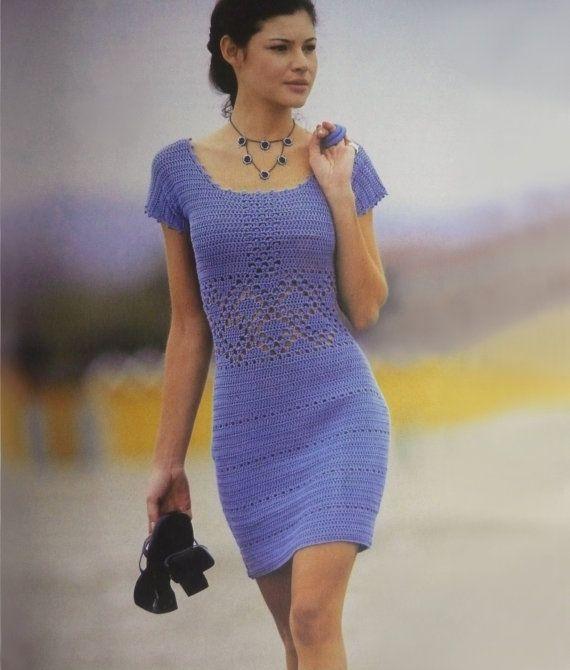 Crochet dress pattern crochet cocktail dress by FavoritePATTERNs