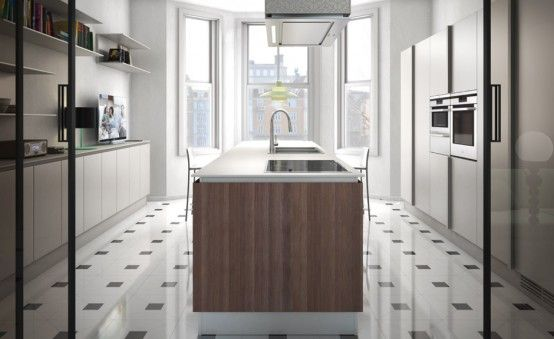 Simple and Sleek Kitchen Design - Emetrica by Ernestomeda