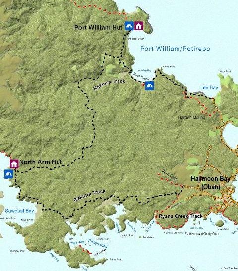 Rakiura Track map. Stewart Island
