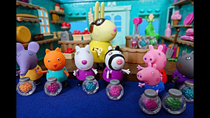 Свинка Пеппа. Пеппа с Джорджем и друзьями едут в магазин. Игра в продавц...